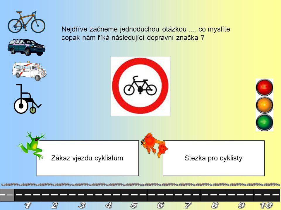 Jste perfektní.Díky vám se cyklista dostal bez úrazu na druhou stranu silnice.