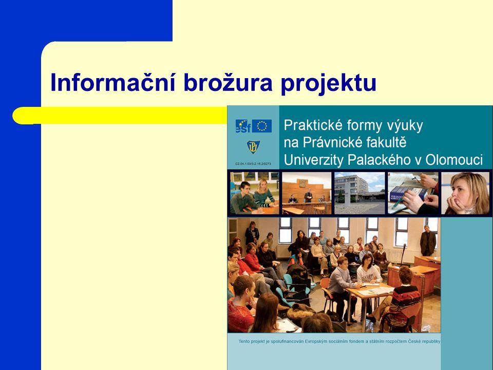 Informační brožura projektu