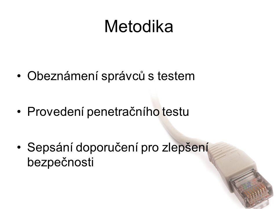 Závěr Čtenář se dozví o: –OSSTMM v českém jazyce –Rozdělení a druzích bezpečnostních testů –Používaných útocích a možné obraně proti nim –Jak je zabezpečena JČU proti útokům