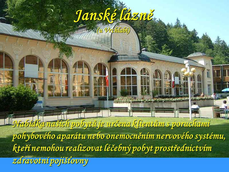 Jáchymov Lázeňské město Jáchymov za svou popularitu vděčí zejména nálezištím radonových minerálnich vod. Díky léčivým učinkům této vody se zde výborně