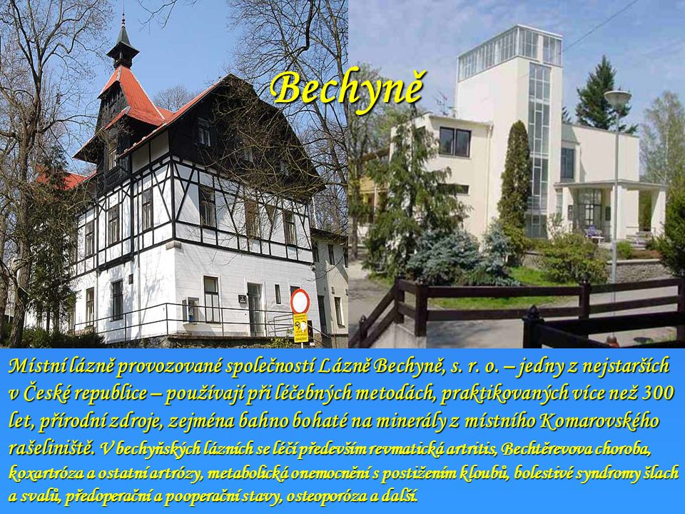 Lázně Bělohrad (u Hořic) Lázeňská rehabilitační klinika je zaměřena na léčbu pohybového aparátu. Základem je individuální péče, vedená zkušenými lékař