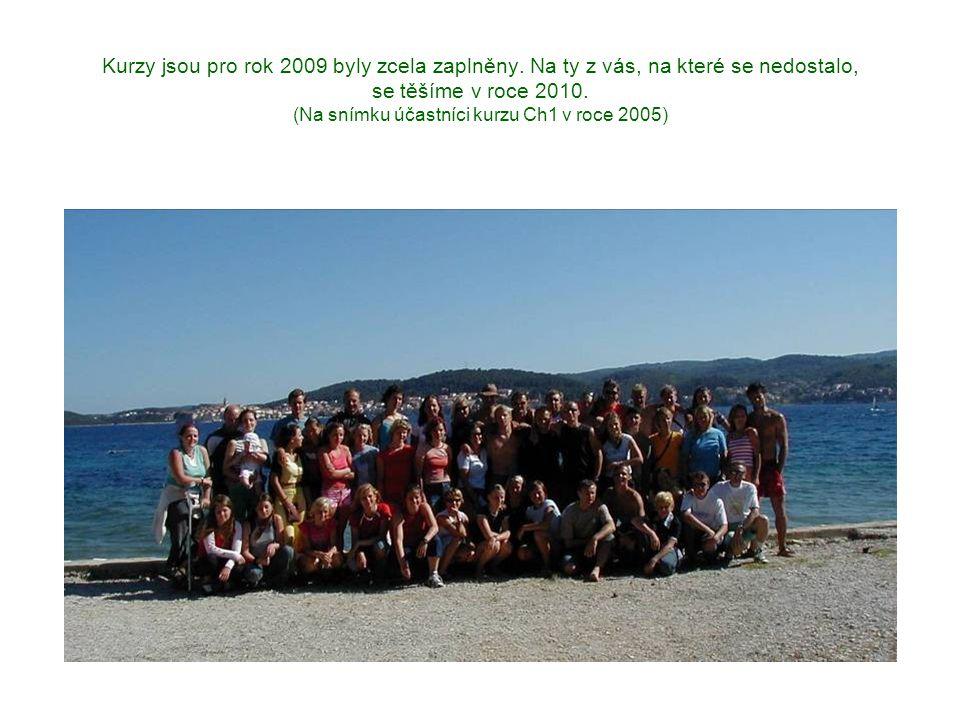 Kurzy jsou pro rok 2009 byly zcela zaplněny. Na ty z vás, na které se nedostalo, se těšíme v roce 2010. (Na snímku účastníci kurzu Ch1 v roce 2005)