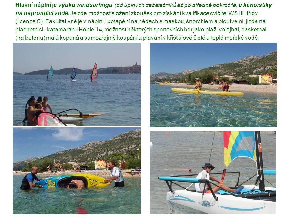 Rozpočet kurzů windsurfingu KTVS v roce 2010 ( rozklíčování plateb jednotlivých účastníků) Kurz windsurfingu č.
