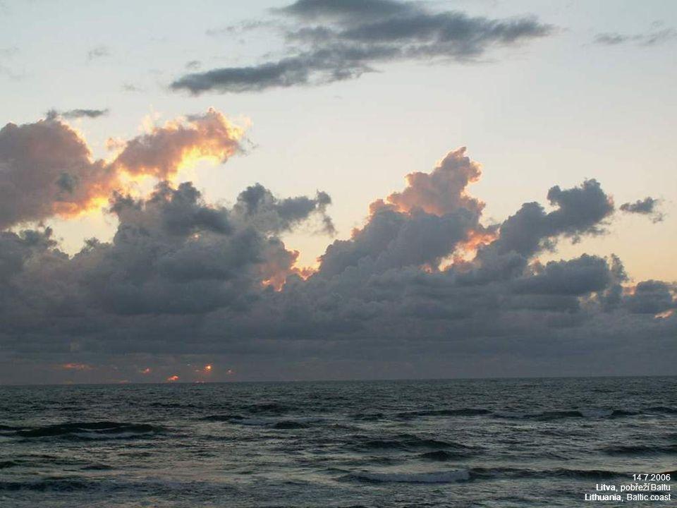 14.7.2006 Litva, pobřeží Baltu Lithuania, Baltic coast