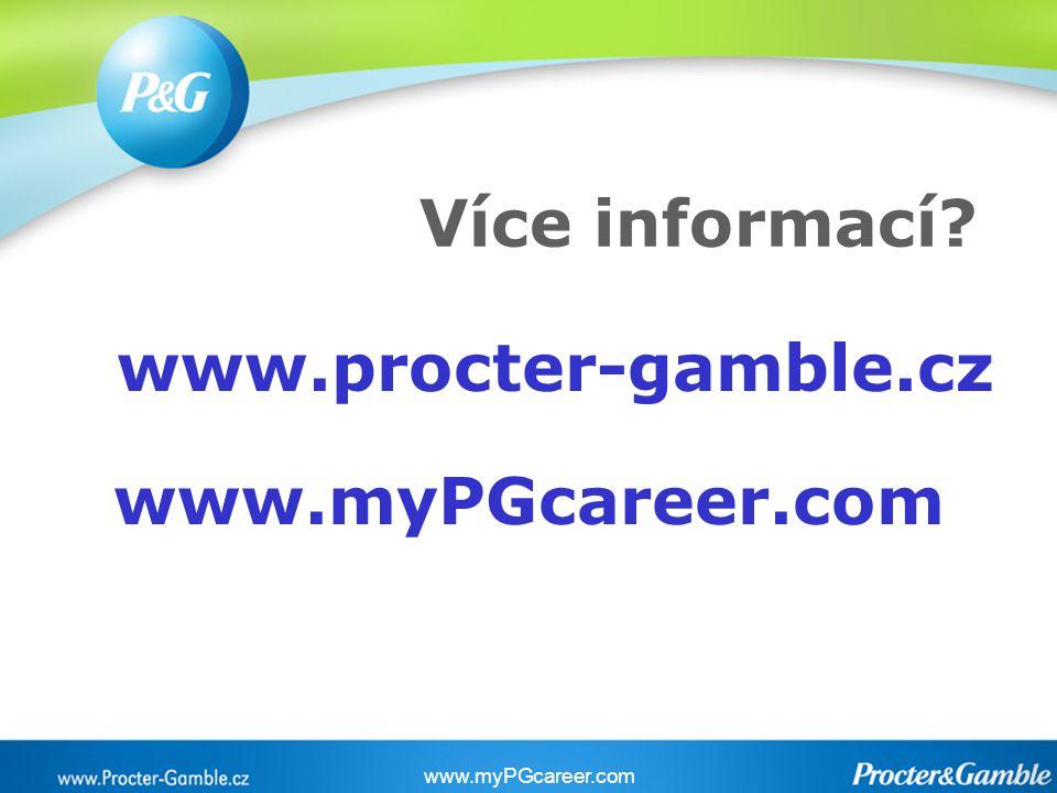 Více informací? www.procter-gamble.cz www.myPGcareer.com