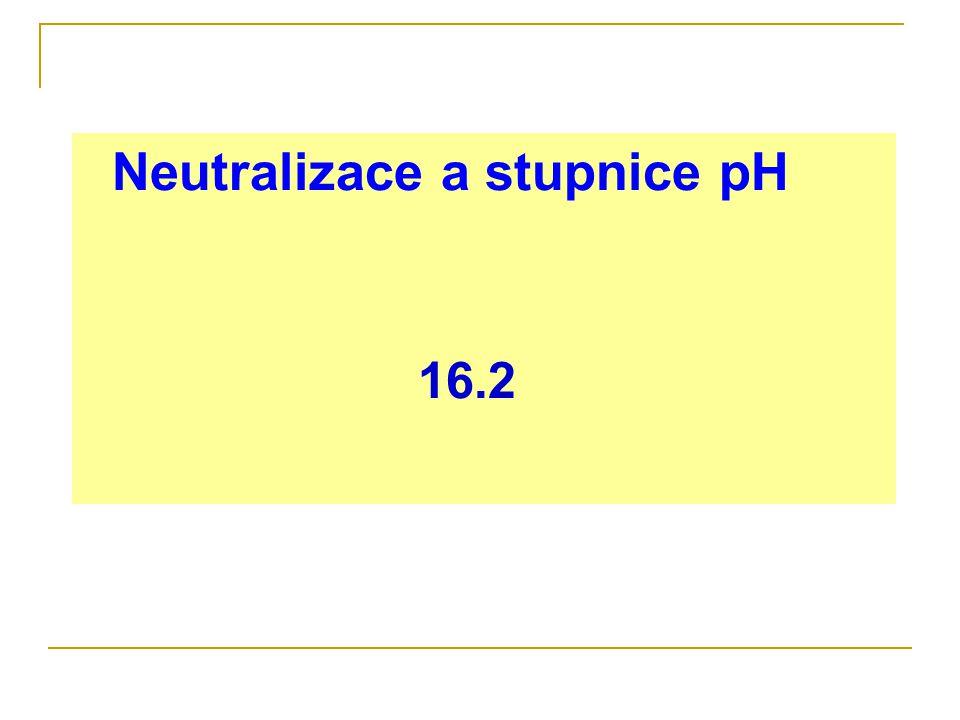 Neutralizace a stupnice pH 16.2