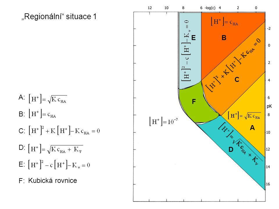 """A: B: C: D: E: """"Regionální situace 2 E C D 1.Když Kv zanedbáme, pak E = B 2."""