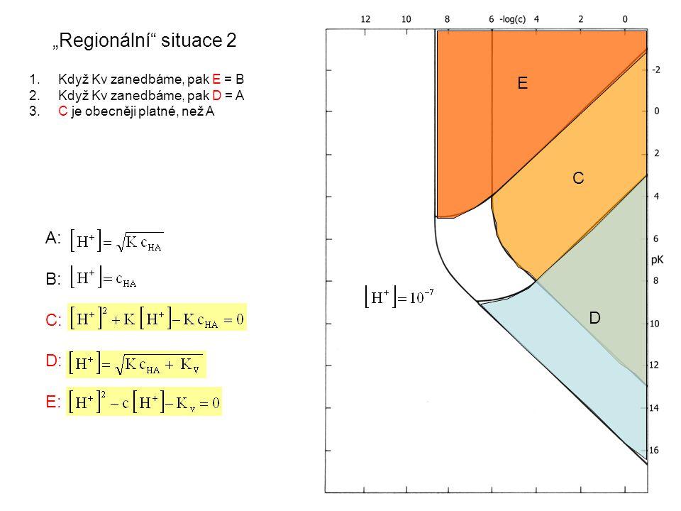 """A: B: C: D: E: """"Regionální situace 2 E C D 1. Když Kv zanedbáme, pak E = B 2."""