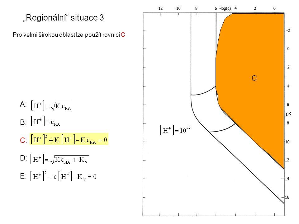 """A: B: C: D: E: """"Regionální situace 3 Pro velmi širokou oblast lze použít rovnici C C"""