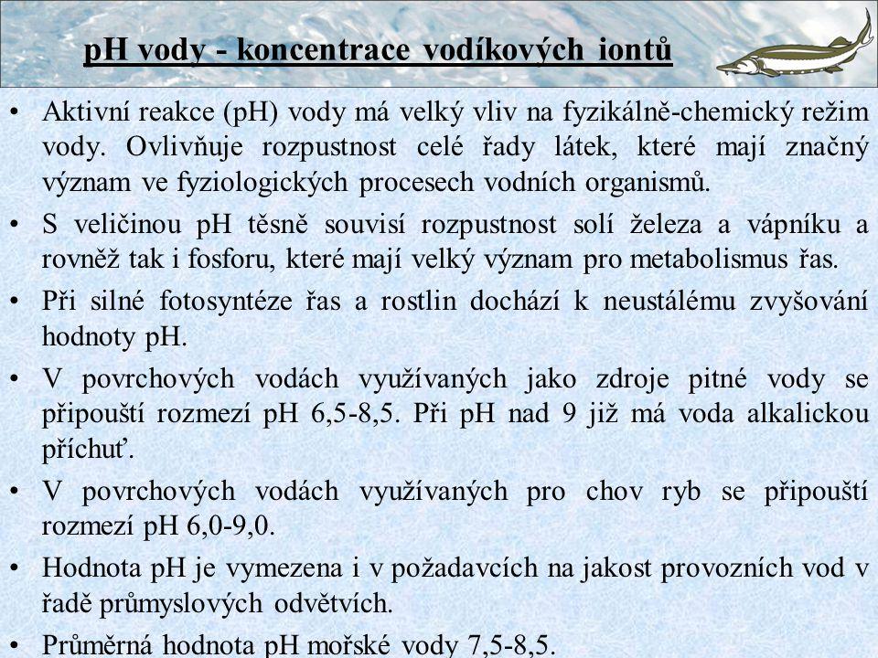 Vápník Ca je důležitý stavební prvek, především mechanických pletiv (koster) a rozhoduje o stabilitě pH vody Množství Ca ve vodách závisí převážně na geologickém podloží, v prahorních útvarech (žuly,ruly) mívají toky pouze několik mg.l -1, vody z vápencových (krasových) útvarů i několik set mg.l -1 Pro omezenou rozpustnost vápenatých solí nebývá ani v minerálních vodách obvykle více než 1 g.l -1 Ca V mořské vodě je průměrný obsah Ca 400 mg.l -1