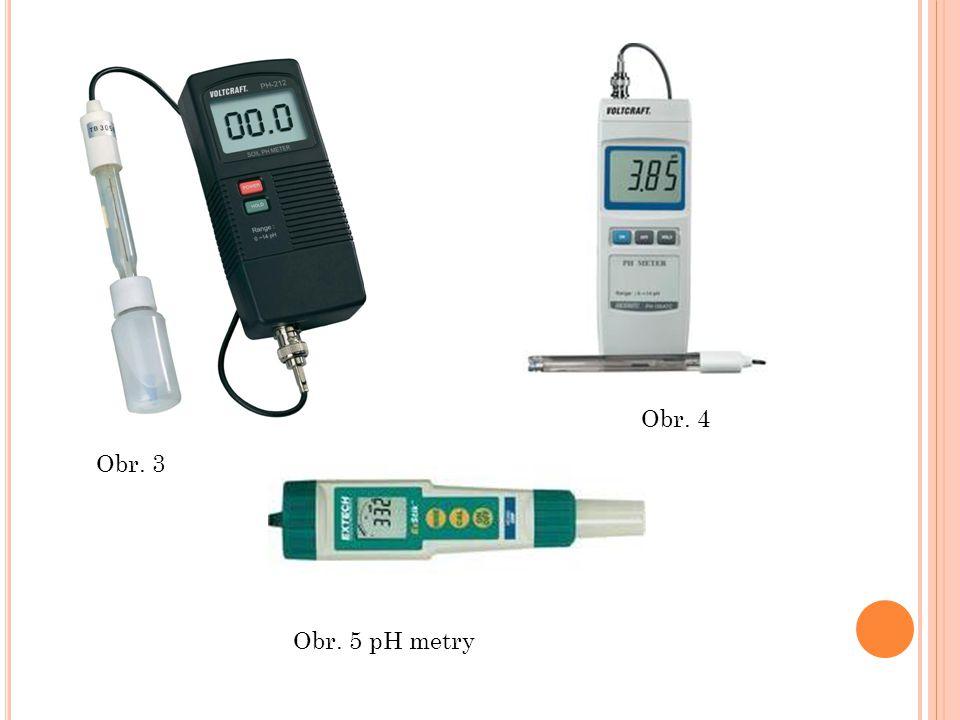 Obr. 5 pH metry Obr. 3 Obr. 4