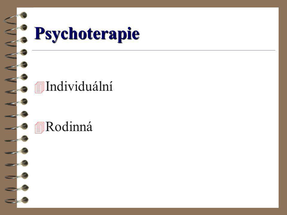 Psychoterapie 4 Individuální 4 Rodinná