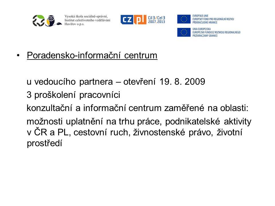 Poradensko-informační centrum u vedoucího partnera – otevření 19.