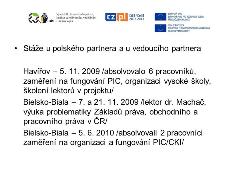 Stáže u polského partnera a u vedoucího partnera Havířov – 5.
