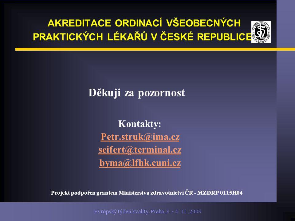 Evropský týden kvality, Praha, 3. - 4. 11.