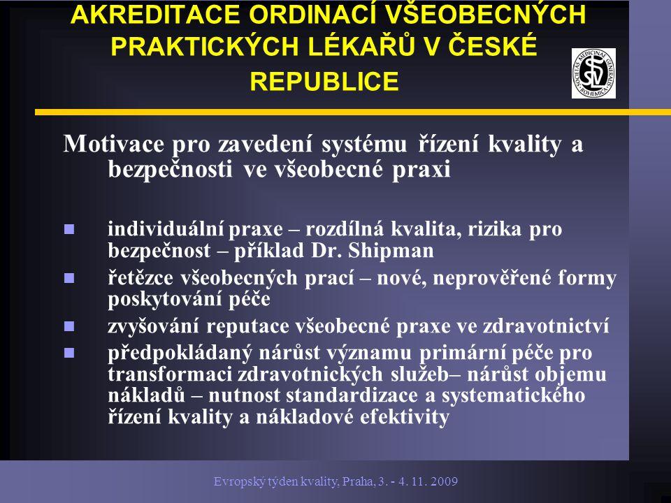 Evropský týden kvality, Praha, 3.- 4. 11.