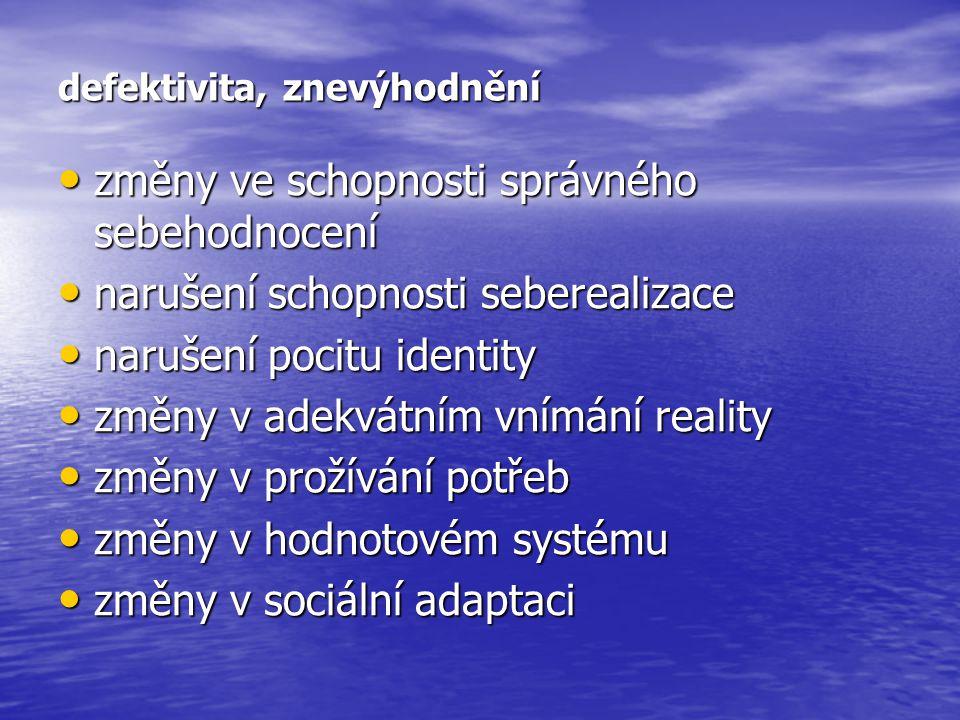 stupně socializace: 1) integrace 1) integrace 2) adaptace 2) adaptace 3) utilita 3) utilita 4) exkluze, inferiorita 4) exkluze, inferiorita