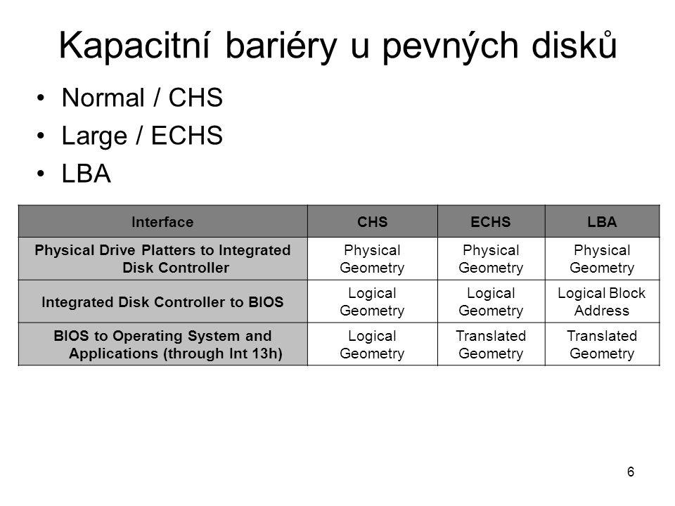7 Normal / CHS Normální mód lze použít u pevných disků s kapacitou pod 504 MB.