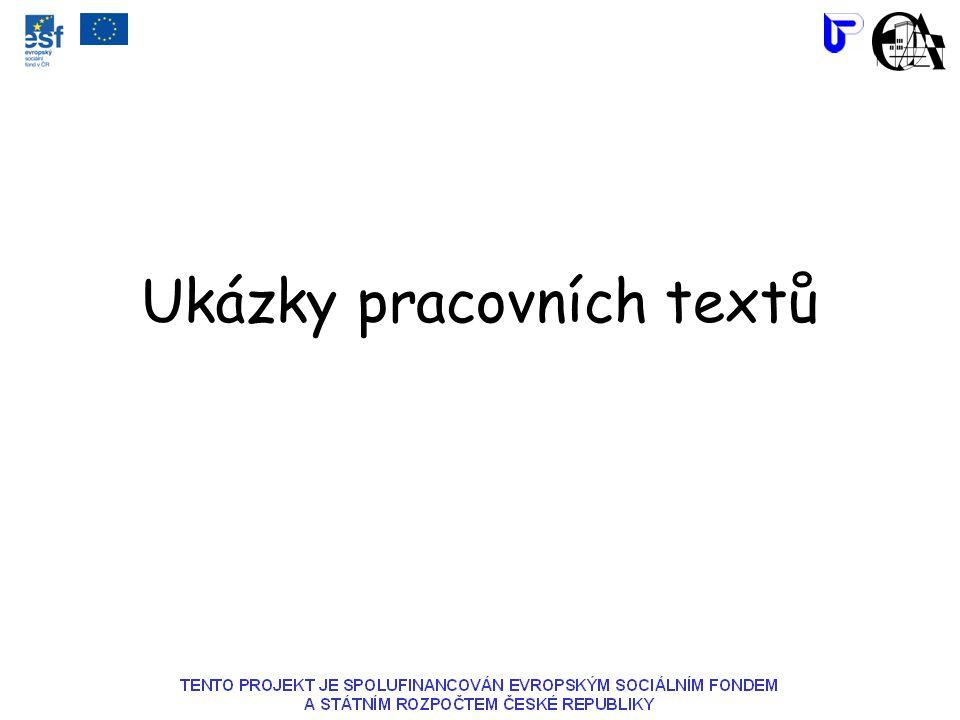 Ukázky pracovních textů