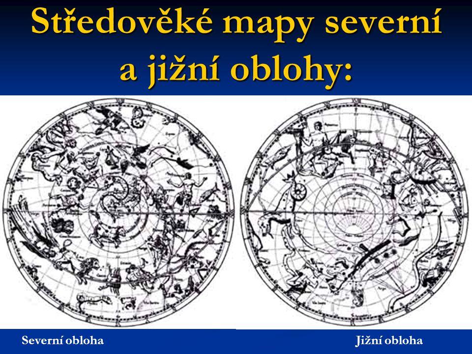 Středověké mapy severní a jižní oblohy: Severní obloha Jižní obloha