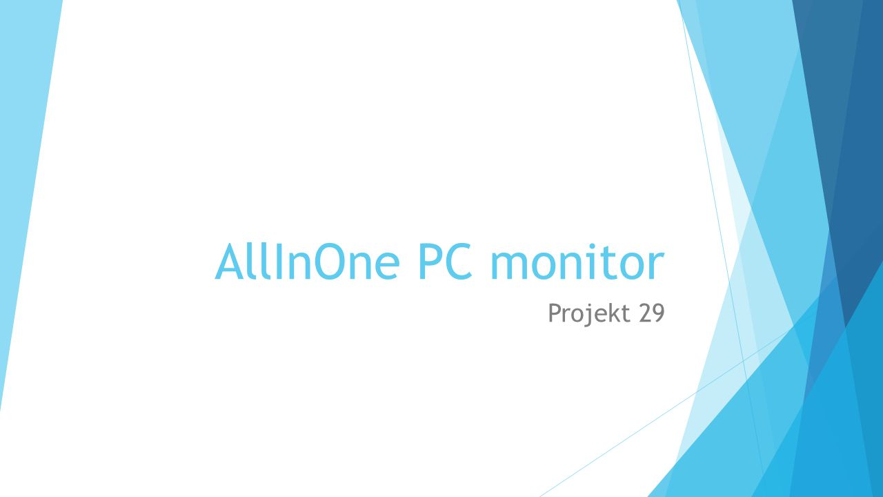 AllInOne PC monitor Projekt 29