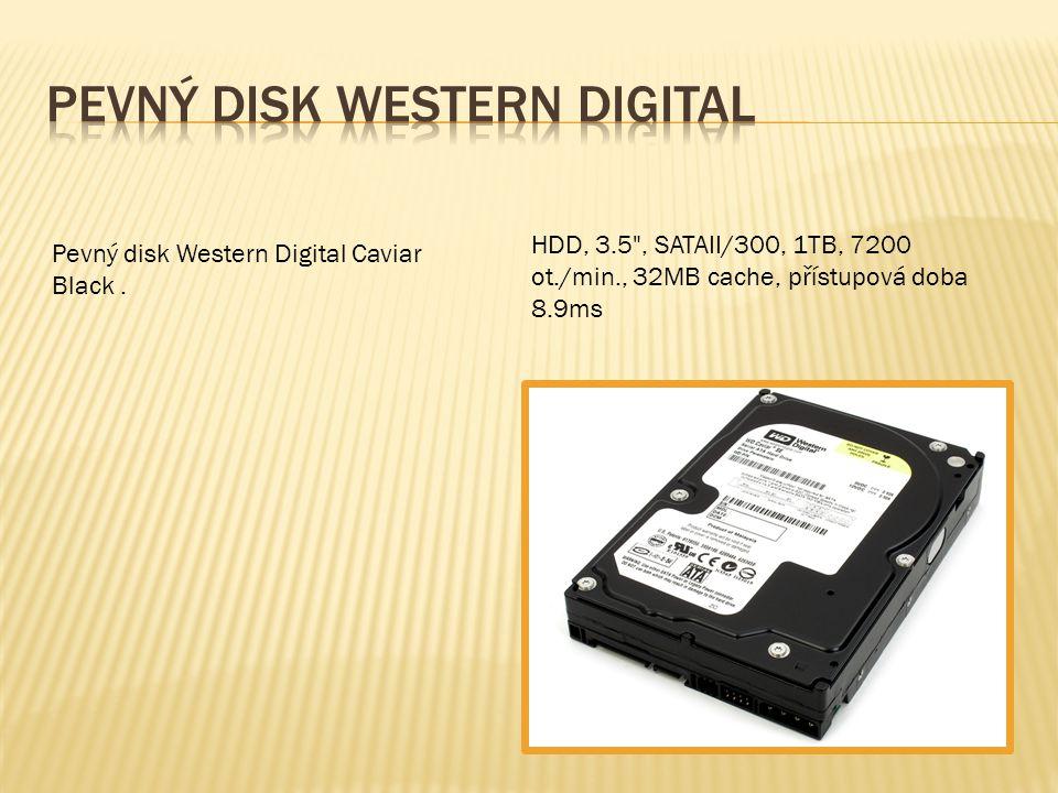 HDD, 3.5 , SATAII/300, 1TB, 7200 ot./min., 32MB cache, přístupová doba 8.9ms Pevný disk Western Digital Caviar Black.