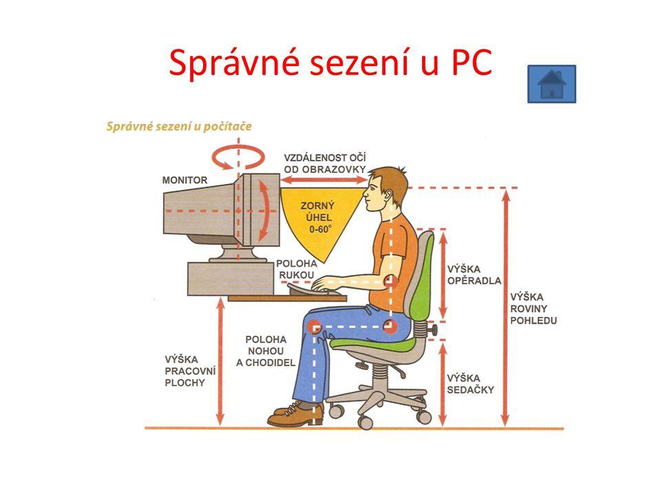 Správné sezení u PC