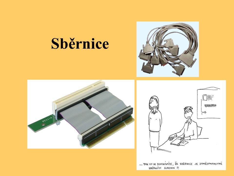 Sběrnici si můžeme obecně představit jako skupinu elektrických vodičů spojujících jednotlivě součásti počítače.
