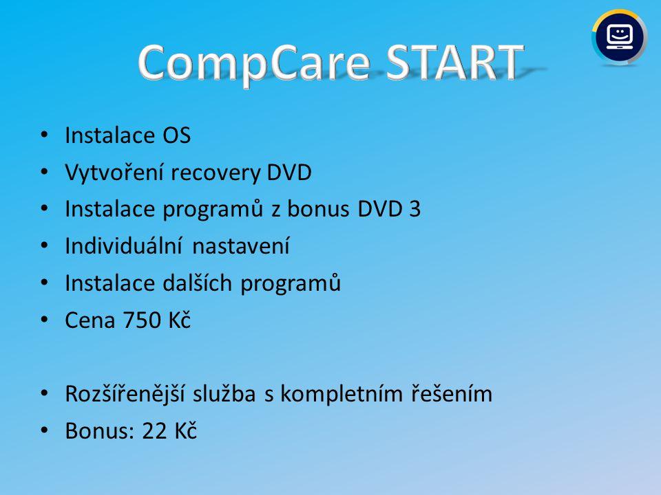 Doplňková PC služba Nahrazuje všechny dříve prodávané PC služby: – úklid PC, instalace HW, instalace HW s ovladači, instalace SW, zálohování dat, odvirování PC/NTB, přetažení dat ze starého PC/NTB do nového, první SW pomoc a instalace operačního systému Windows - XP, Vista a Windows 7 Cena: 550 Kč Bonus: 100 Kč