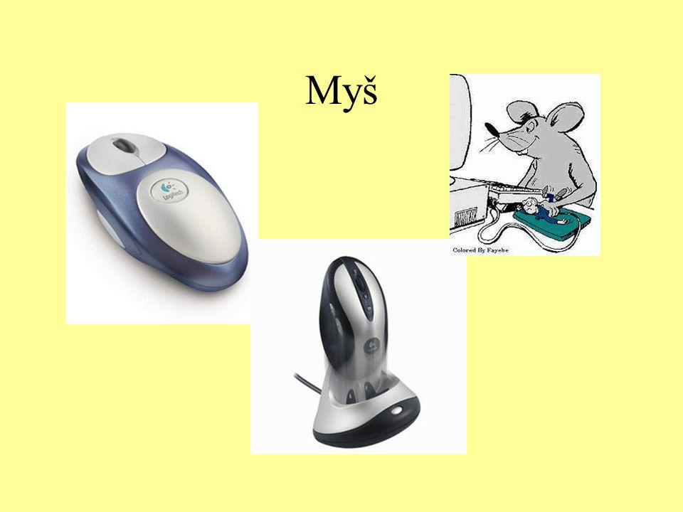 Optomechanická myš - princip Jak se disk otáčí, infračervené světlo je střídavě propouštěno a blokováno, čímž vznikají záblesky, které optický senzor detekuje a elektronika myši je převádí na elektrický signál.
