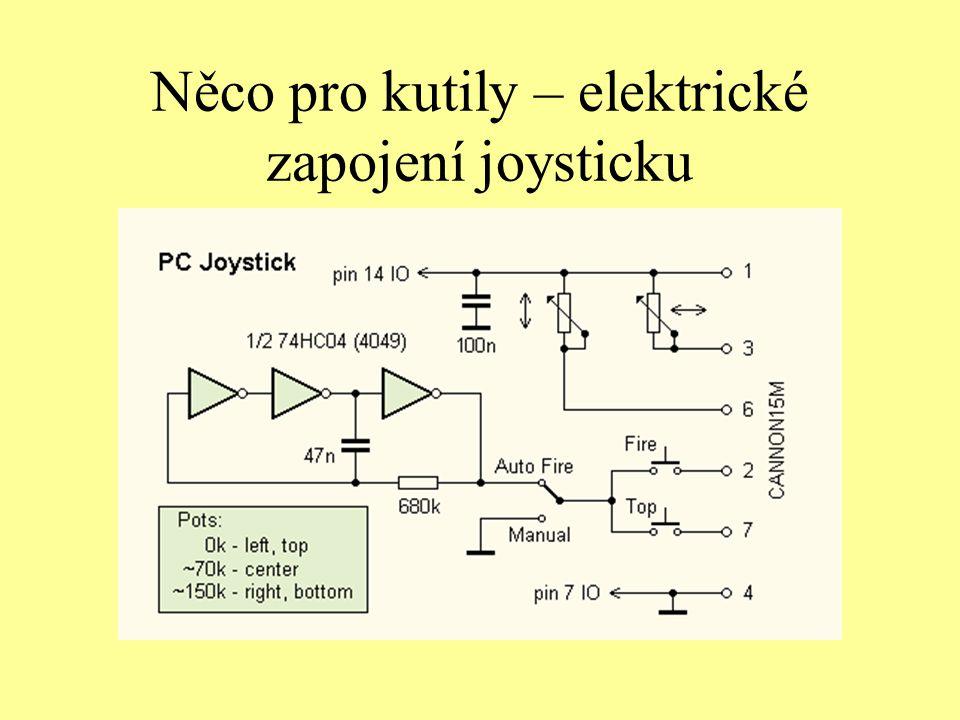 Něco pro kutily – elektrické zapojení joysticku