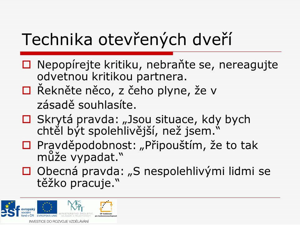 Zdroje:  Praško, J., Prašková, H.Asertivitou proti stresu.