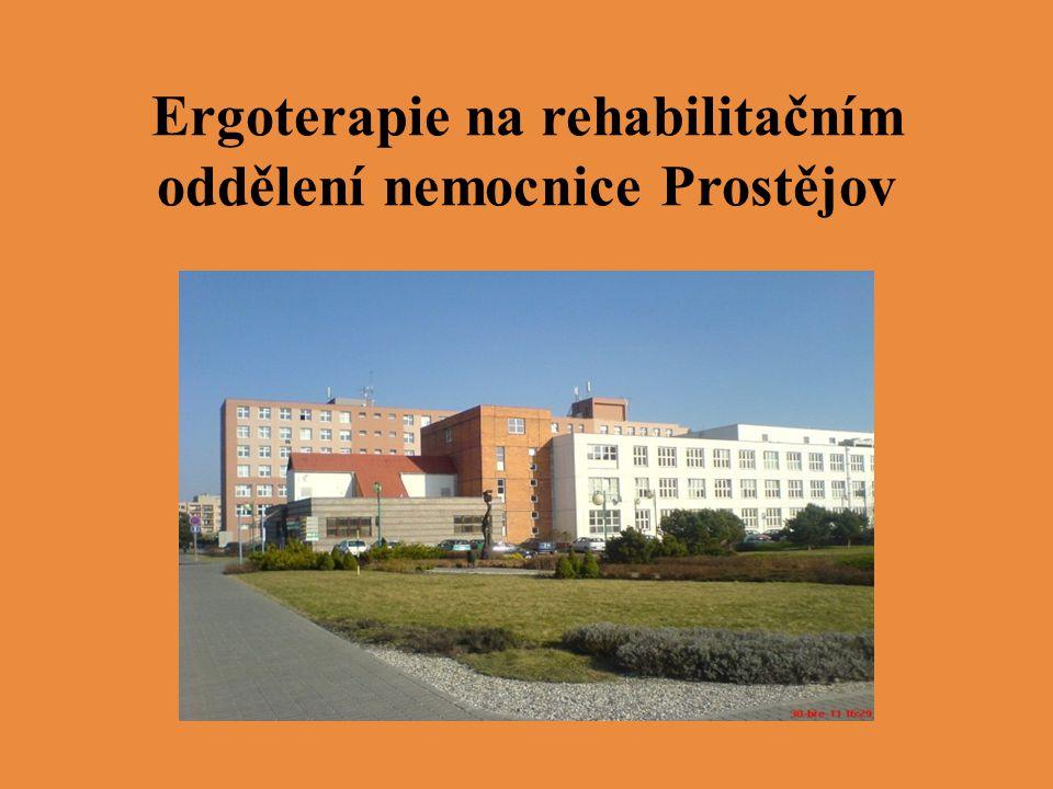 Ergoterapie na rehabilitačním oddělení nemocnice Prostějov