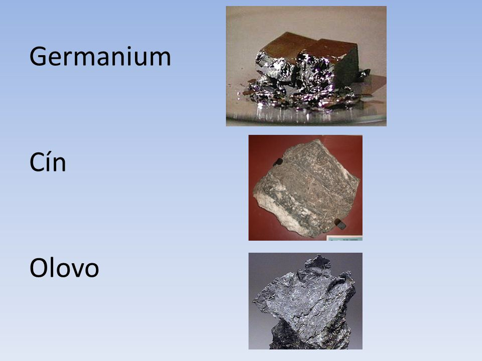 Germanium Cín Olovo