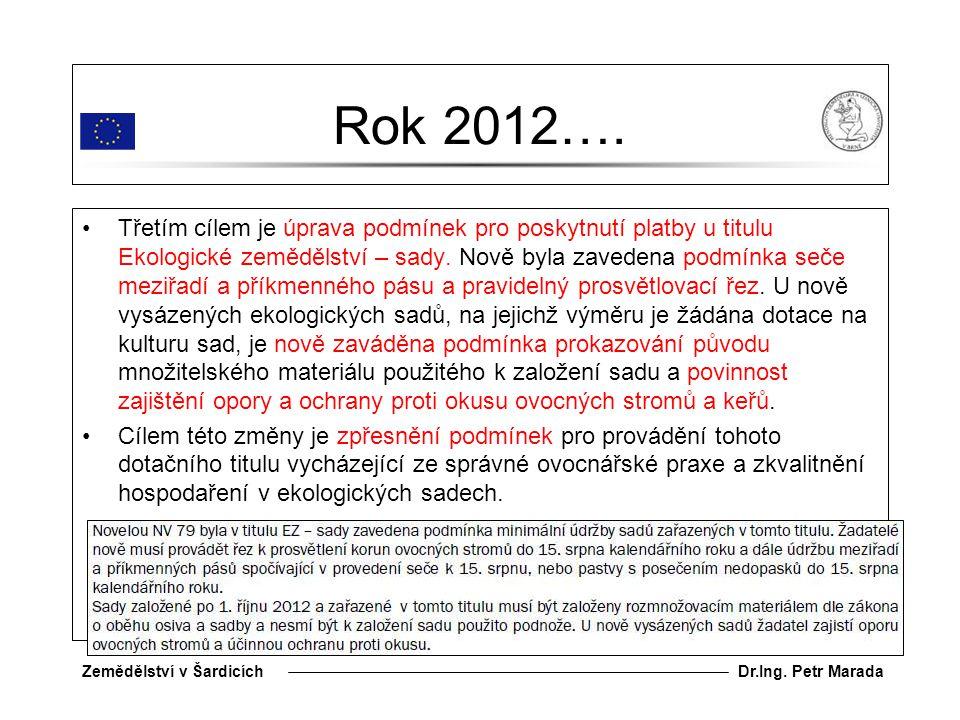 Dr.Ing.Petr MaradaZemědělství v Šardicích Rok 2012….