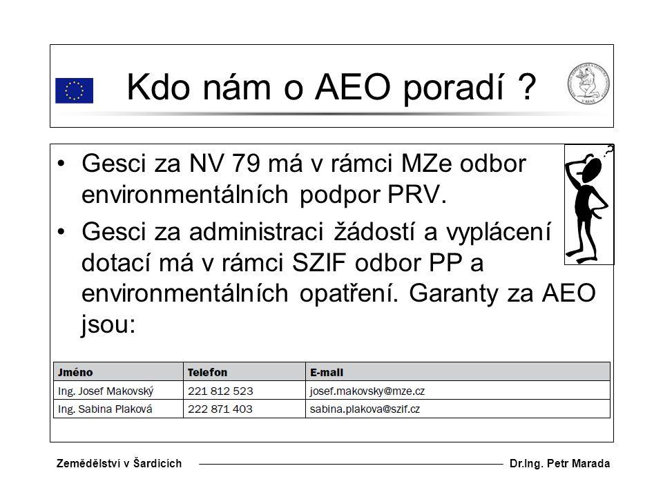 Dr.Ing.Petr MaradaZemědělství v Šardicích Kdo nám o AEO poradí .