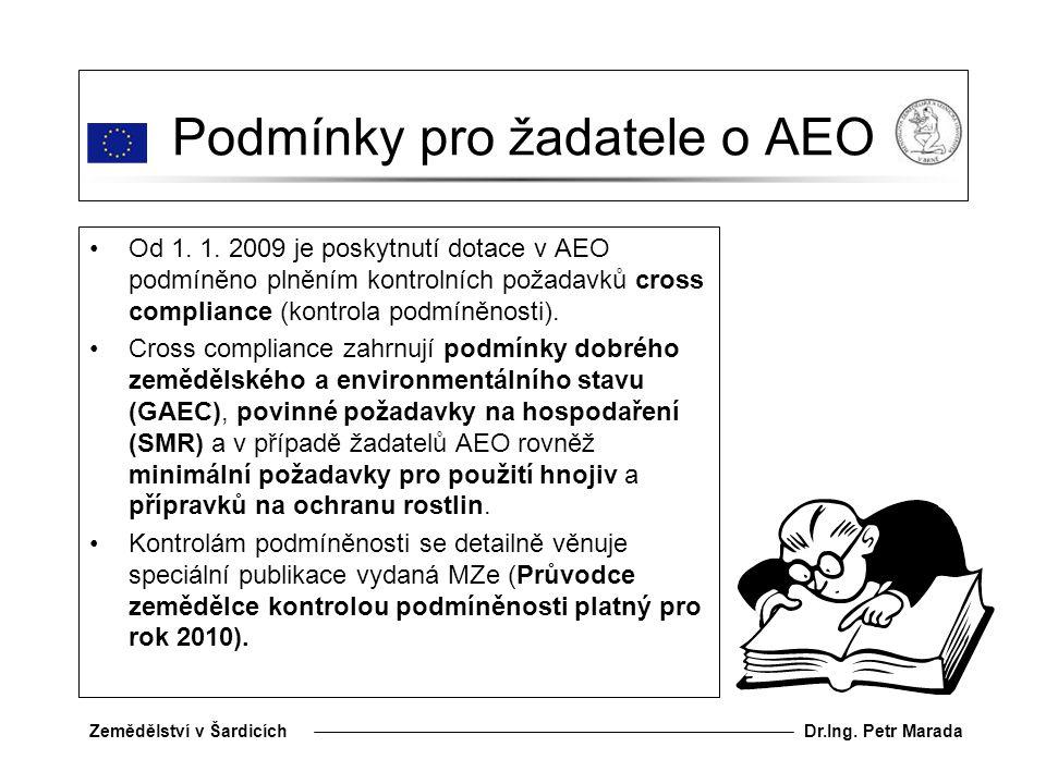 Dr.Ing.Petr MaradaZemědělství v Šardicích Podmínky pro žadatele o AEO Od 1.