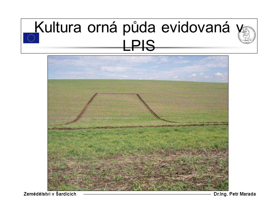 Dr.Ing. Petr MaradaZemědělství v Šardicích Kultura orná půda evidovaná v LPIS