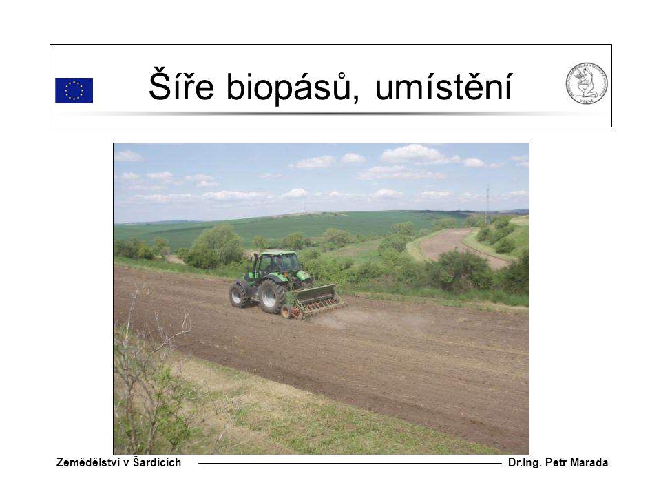 Dr.Ing. Petr MaradaZemědělství v Šardicích Šíře biopásů, umístění