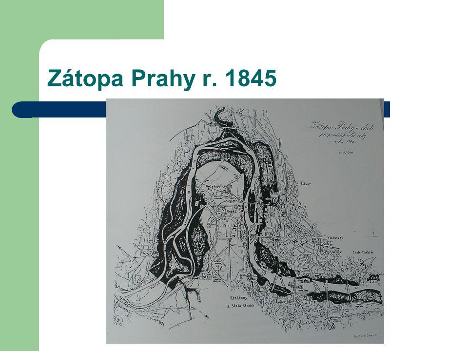 Zátopa Prahy r. 1845