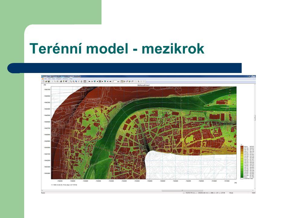 Terénní model - mezikrok