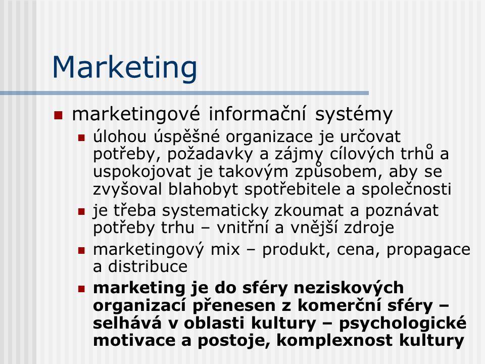 Marketing marketingové informační systémy úlohou úspěšné organizace je určovat potřeby, požadavky a zájmy cílových trhů a uspokojovat je takovým způso
