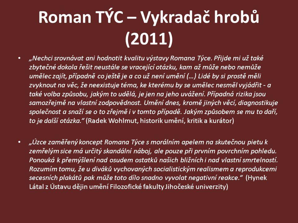 """Roman TÝC – Vykradač hrobů (2011) """"Nechci srovnávat ani hodnotit kvalitu výstavy Romana Týce. Přijde mi už také zbytečné dokola řešit neustále se vrac"""