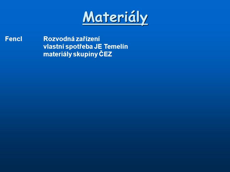 Materiály FenclRozvodná zařízení vlastní spotřeba JE Temelín materiály skupiny ČEZ