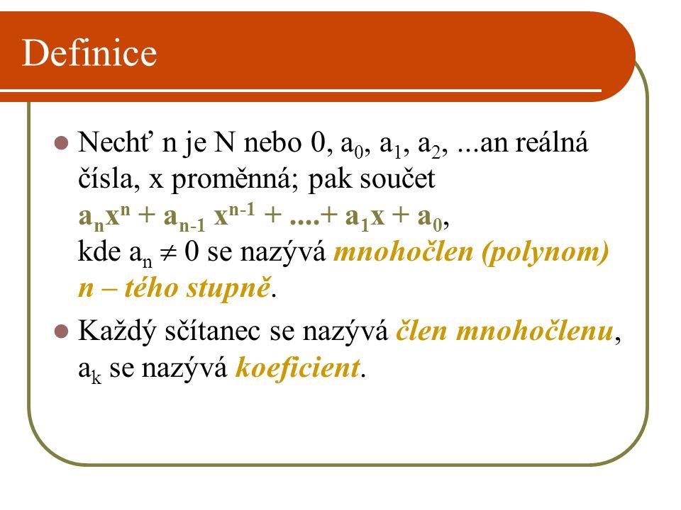 Příklad mnohočlenu Př.