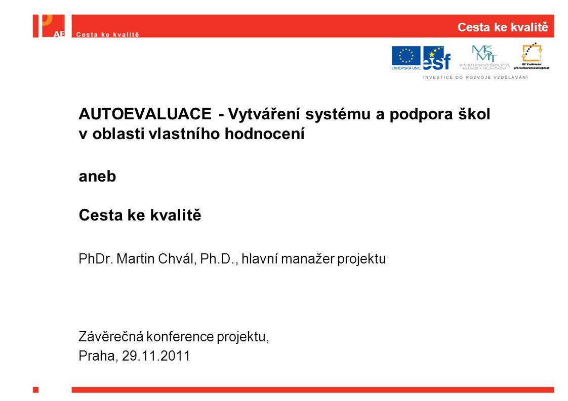 B3: Metodika propojení autoevaluace a externí evaluace B3: Principy autoevaluace z externího pohledu  Pod vedením prof.