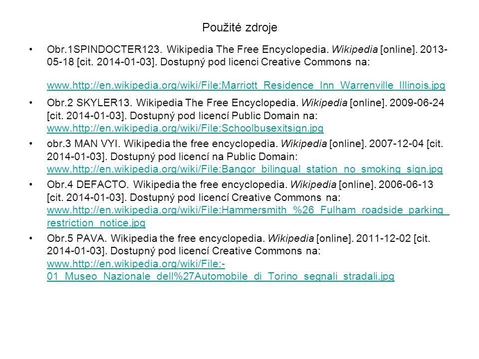 Použité zdroje Obr.1SPINDOCTER123. Wikipedia The Free Encyclopedia.