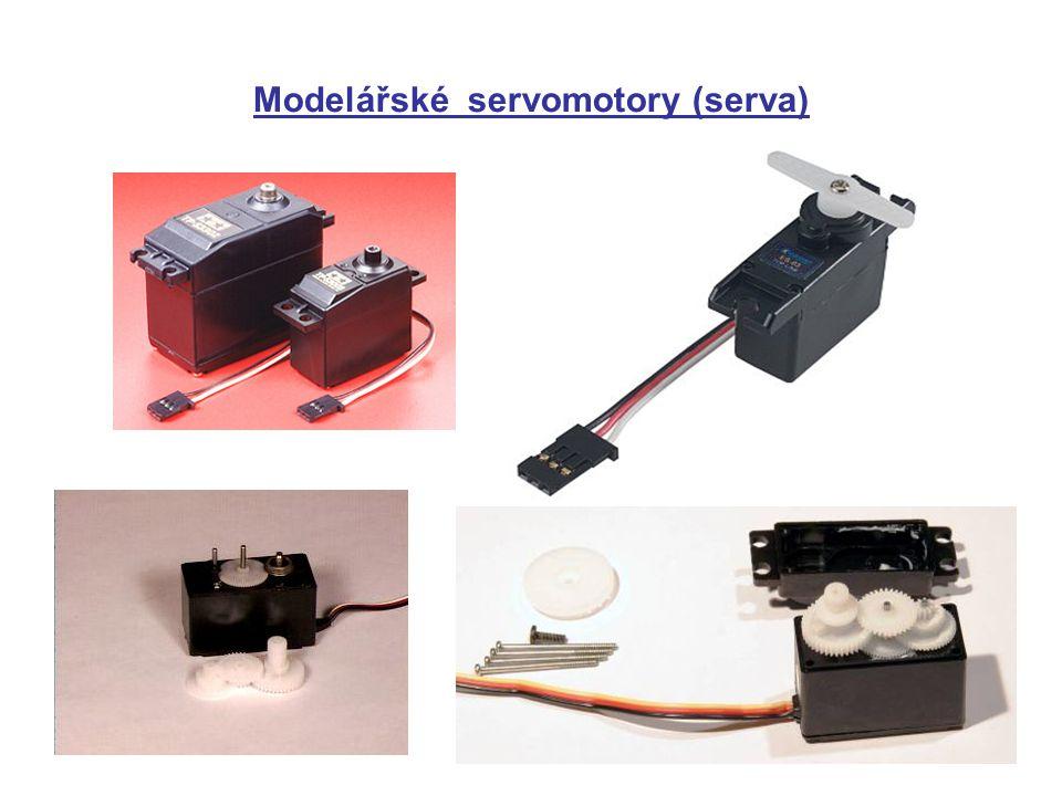 Modelářské servomotory (serva)