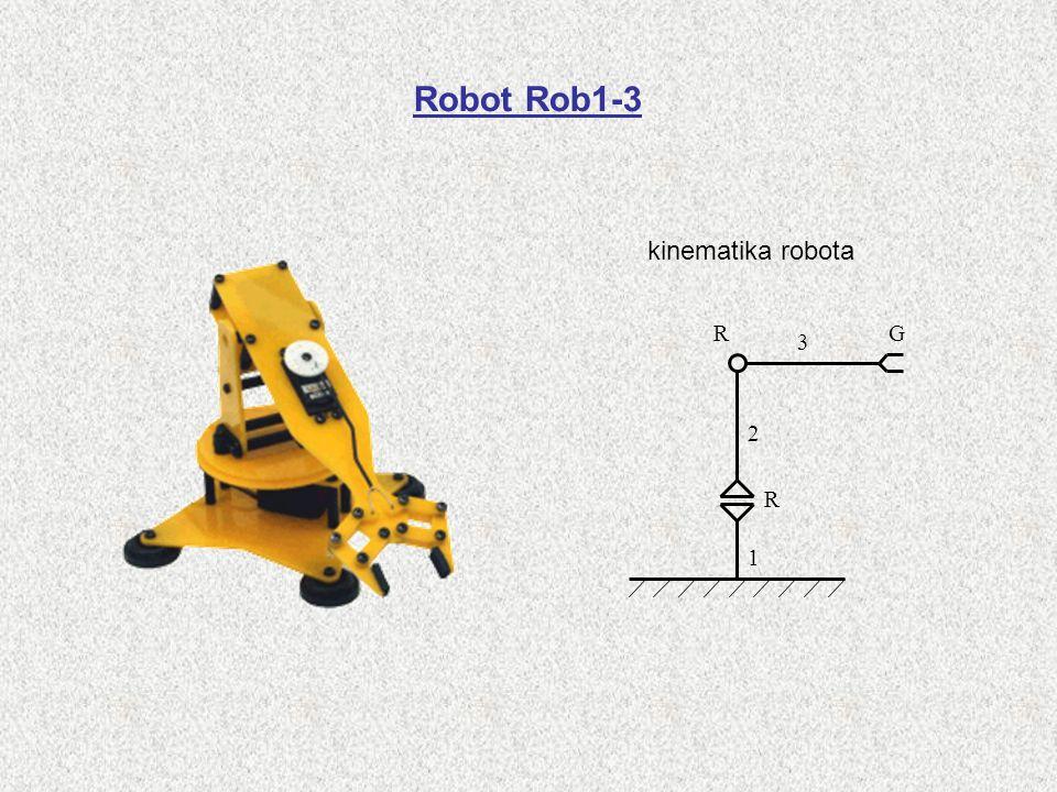 Robot Rob1-3 kinematika robota 1 2 3 G R R