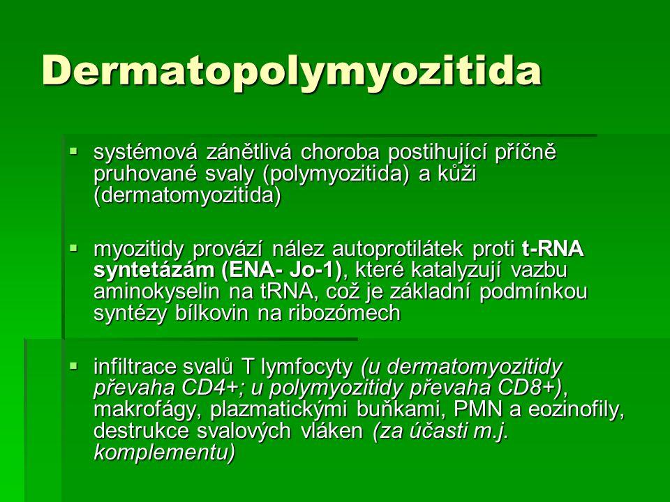 Dermatopolymyozitida  systémová zánětlivá choroba postihující příčně pruhované svaly (polymyozitida) a kůži (dermatomyozitida)  myozitidy provází ná